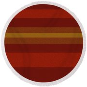 Amore Red Round Beach Towel