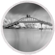 Round Beach Towel featuring the photograph Amritasetu by Sonny Marcyan