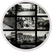 Amsterdam By Jenny Rainbow Round Beach Towel by Jenny Rainbow
