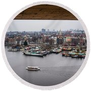 Amsterdam Skyline Round Beach Towel