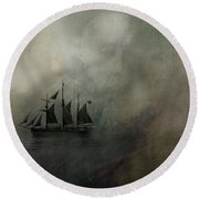 Amundsen And Fram Round Beach Towel