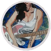Amy Winehouse Round Beach Towel