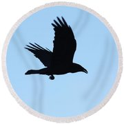 Amy's Amiga Round Beach Towel
