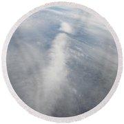 An Aaerial View Of Columbus Round Beach Towel