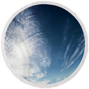 An Abstract Sky Round Beach Towel
