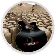 An Acoustic Nightmare 2 Round Beach Towel by Mike McGlothlen