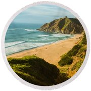 An Afternoon At The Beach Round Beach Towel