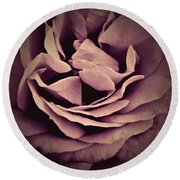 An Angel's Rose Round Beach Towel