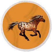 An Appaloosa Called Ginger Round Beach Towel