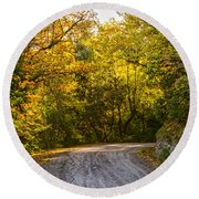 An Autumn Landscape - Hdr 2  Round Beach Towel