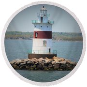 Lights Out Round Beach Towel