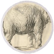 An Elephant Round Beach Towel