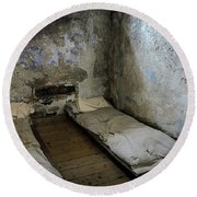 Round Beach Towel featuring the photograph An Empty Cell In Cork City Gaol by RicardMN Photography
