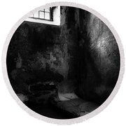 Round Beach Towel featuring the photograph An Empty Cell In Old Cork City Gaol by RicardMN Photography