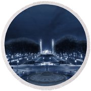 An Evening At The Capitol Round Beach Towel