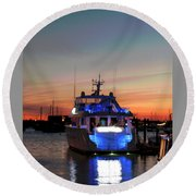 Round Beach Towel featuring the photograph An Evening In Newport Rhode Island IIi by Suzanne Gaff