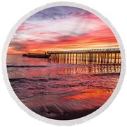 Seacliff Sunset Round Beach Towel