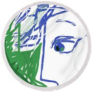 Round Beach Towel featuring the digital art An Eye's View by Mary Armstrong