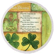 An Irish Blessing Round Beach Towel
