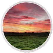 An Irish Landscape Round Beach Towel