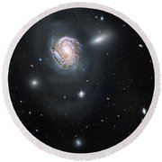Round Beach Towel featuring the photograph An Island Universe In The Coma Cluster by Nasa