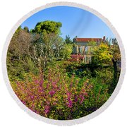 An Old House In Provence Round Beach Towel