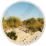 An Opening In The Fence - Jersey Shore Round Beach Towel