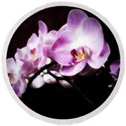 An Orchid For You Round Beach Towel