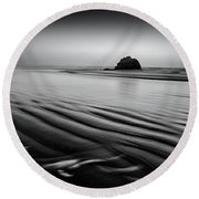 Round Beach Towel featuring the photograph An Oregon Morning by Jon Glaser