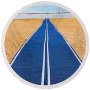Round Beach Towel featuring the photograph An Uncommon Path by Paul Wear