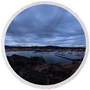 Anacortes  Round Beach Towel by Sabine Edrissi