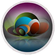 Round Beach Towel featuring the digital art Analogy by Leo Symon