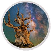 Ancient Beauty Round Beach Towel