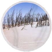 Ancient Dunes Round Beach Towel