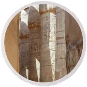 Round Beach Towel featuring the photograph Ancient Egypt by Silvia Bruno