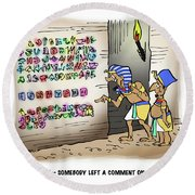 Ancient Egyptian Blog Round Beach Towel