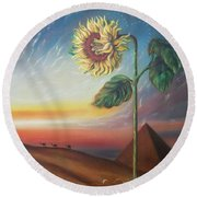 Ancient Energy Round Beach Towel