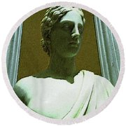 Ancient Goddess Of Badass Round Beach Towel