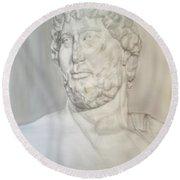 Ancient Greek Statue Round Beach Towel