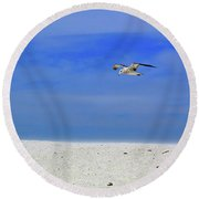 Round Beach Towel featuring the photograph Ancient Mariner by Marie Hicks