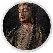 Round Beach Towel featuring the photograph Ancient Peace by Daniel Hagerman