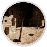 Round Beach Towel featuring the photograph Ancient Sanctuary by Kurt Van Wagner