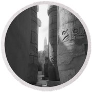 Round Beach Towel featuring the photograph Ancient Silence by Silvia Bruno