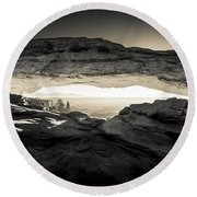 Ancient View Round Beach Towel by Kristal Kraft