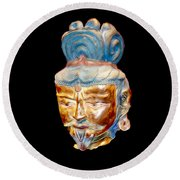 Ancient Warlord Round Beach Towel