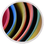 And A Dash Of Color Round Beach Towel