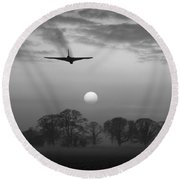And Finally Black And White Version Round Beach Towel