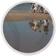 Round Beach Towel featuring the photograph And So They Followed by Ana Mireles