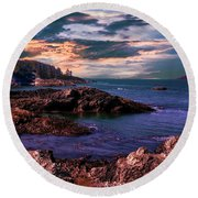 And There Was Morning And Evening On The Third Day Round Beach Towel