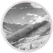 Round Beach Towel featuring the photograph And You Feel The Scene by Jon Glaser
